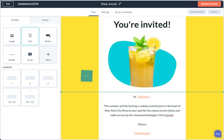 E-mail marketing Hubspot