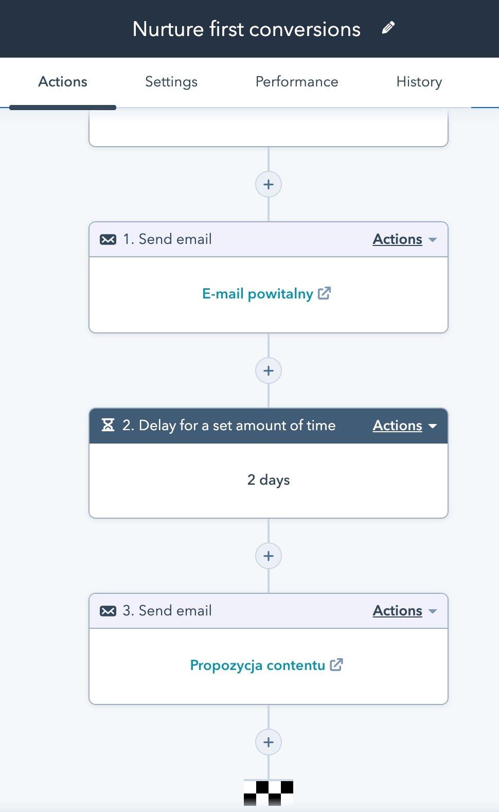 HubSpot - lead nurturing workflow