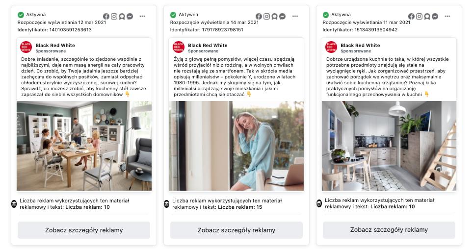 Bibliotek reklam Facebook - analiza wykorzystywanych kanałów