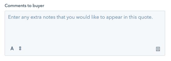 HubSpot Quotes - komentarze do oferty