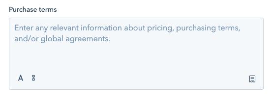 Tworzenie ofert HubSpot - warunki zakupu