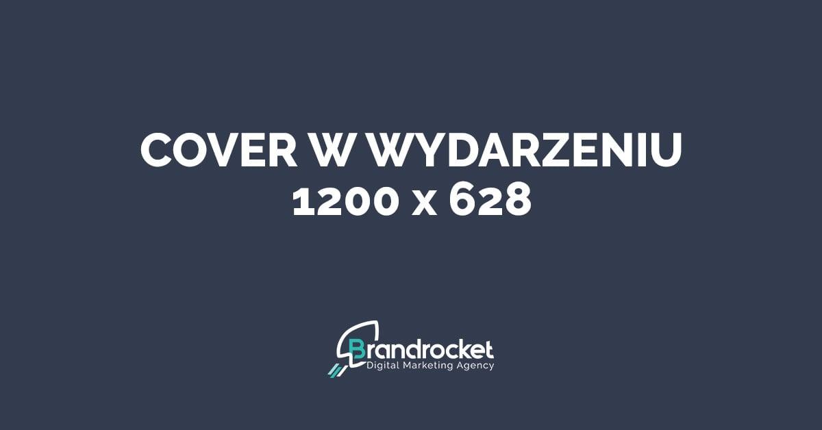 Wymiary grafik na Facebook - cover w wydarzeniu 1200x628