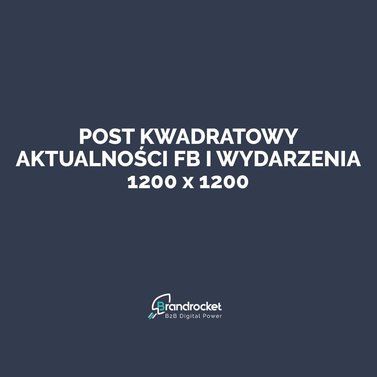 Wymiary grafik na Facebook - post kwadratowy 1200x1200